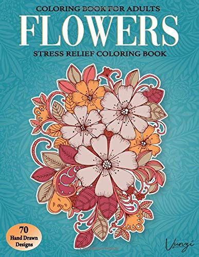 flowers coloring book  adults  beautiful flower