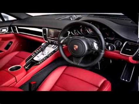 porsche panamera red interior porsche panamera white red interior 2 youtube