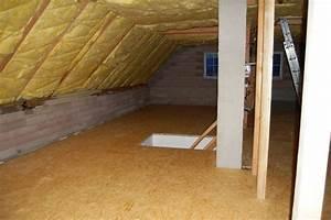 Podlaha v podkroví z osb desek