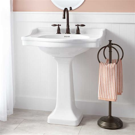 ikea freestanding kitchen sink cabinet cierra large porcelain pedestal sink bathroom