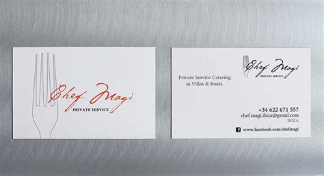 16+ Business Cards For Chefs