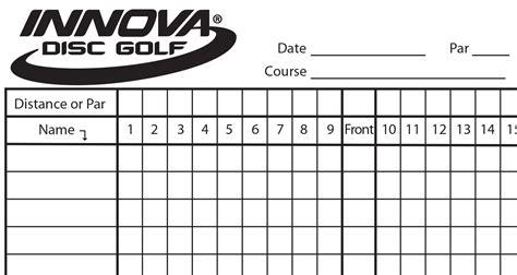 golf scorecard innova scorecard innova disc golf