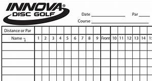 Innova Scorecard - Innova Disc Golf