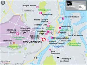 Dance Lights by Tivoli Gardens Copenhagen Denmark Location Map