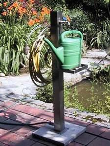 Wasserhahn Für Garten : edelstahl wasserstation freistehend mit wasserhahn schlauch ~ Watch28wear.com Haus und Dekorationen
