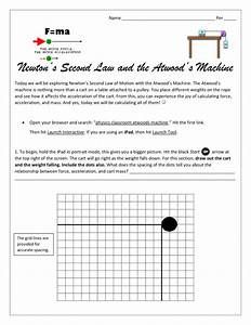 Newtons Second Law Of Motion Worksheet Answers Physics