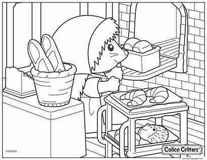 Coloring Calico Critters Bread Croissant Cooking Printable