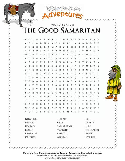 bible word search  good samaritan