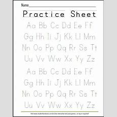 Free Printable Handwriting Abc Worksheet  Free Printables  Alphabet Writing Practice