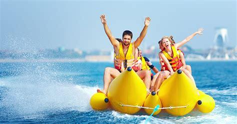 Banana Boat Ride Orange Beach Alabama gulf coast water sports banana boat kayak paddleboards