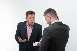 Boss Angry With Young Employee Stock Photo - Image: 42629136