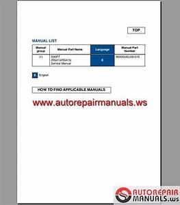 Suzuki Swift 2005 Repair Manual