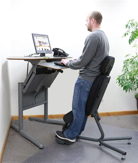siege stressless stance angle chair ergonomic standing chair healthpostures