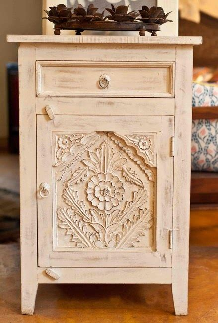 carved wood indian bedside table painted modern coffee