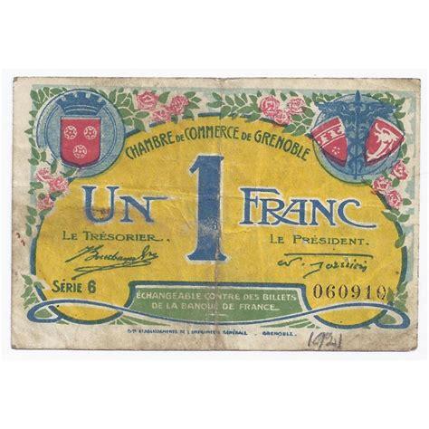 chambre des commerce grenoble 38 grenoble chambre de commerce 1 franc 1922 tres beau