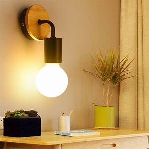 Modern, Wall, Lamp, Sconces, Black, White, Wood, Wall, Light, Restaurant, Bedroom, Decorative, Wall, Lights