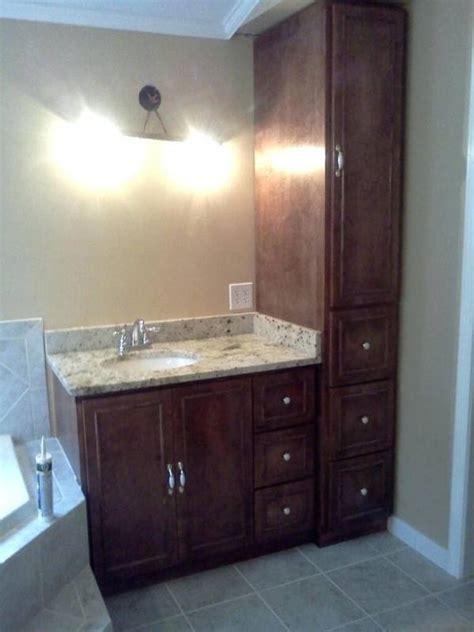 bathroom vanity  linen cabinet