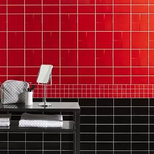 Faïence mur rouge rouge, Astuce l 10 x L 20 cm Leroy Merlin