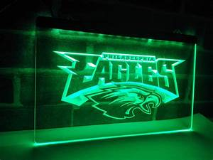 LD054 Philadelphia Eagles Football LED Neon Light Sign