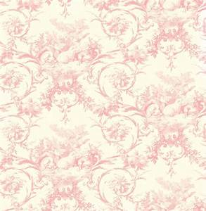 Brewster Wallpaper Kennedy Pink Modern Toile Wallpaper
