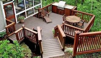 split level front porch designs constructing a wood deck costs pros and cons
