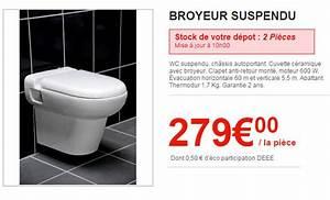 Wc Avec Broyeur : les wc brico d p t ~ Edinachiropracticcenter.com Idées de Décoration