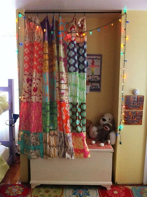 boho fabric patchwork curtain shower curtain  quilt