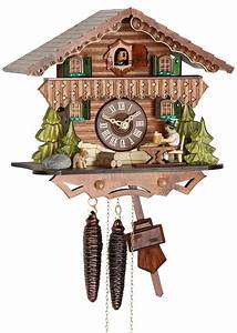Cuckoo, Clock, 1-day-movement, Chalet-style, 24cm, By, Hekas
