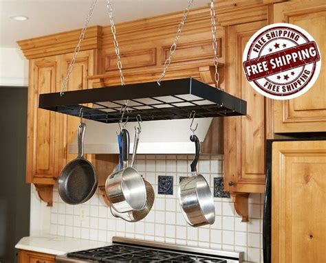 Pot And Pan Holders Ceiling by Pot Rack Holder Iron Kitchen Ceiling Pan Organizer Mount