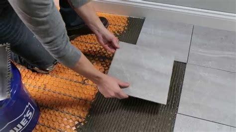 heated floor tile schluter ditra heat for floors