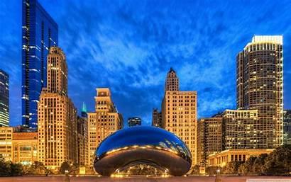 Chicago Gate Cloud Illinois States United Desktop