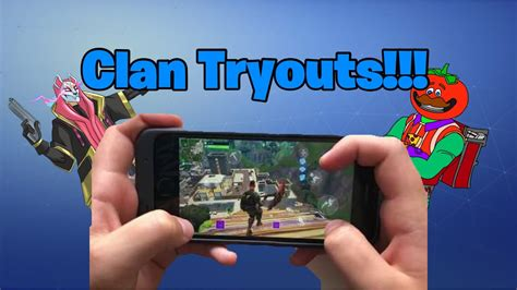 Fortnite Mobile Clan Tryout Announcement ( Resurrect