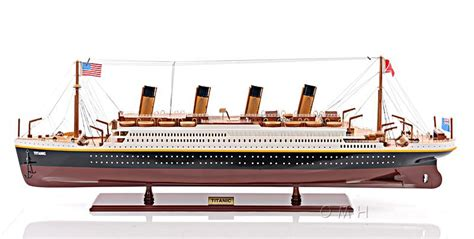 Titanic Toy Boat Uk by Rms Titanic Ocean Liner Wooden Model 40 Quot White Star Line