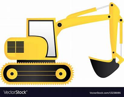 Backhoe Clipart Yellow Solid Icon Loader Library