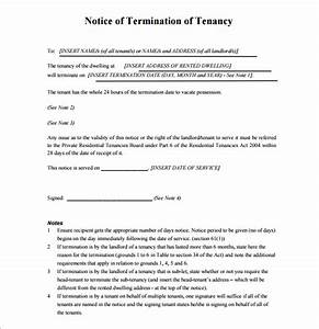 tenancy termination letter template 10 lease termination With notice to end tenancy template