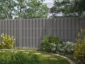 Gartenzaun Höhe Zum Nachbarn : sichtschutz jumbo wpc grau 179x95 zaun ~ Lizthompson.info Haus und Dekorationen