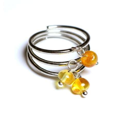 Sudraba krāsas gredzens pielāgojams ~18 mm ar medus krāsas ...