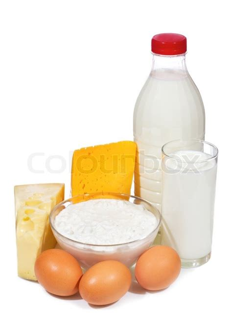 why are eggs dairy dairy products and eggs on white background stock photo colourbox