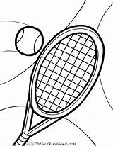 Tennis Racket Ball Coloring Pages Court Printable Template Drawing Print Sketch Getcolorings Clipartmag Getcoloringpages Dorable sketch template