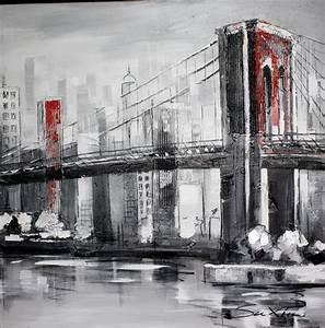 Tableau Peinture Sur Toile : tableau peinture urbaine ~ Teatrodelosmanantiales.com Idées de Décoration
