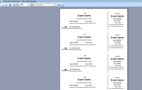 Publisher Ticket Template by How To Generate Sequentially Numbered Documents Using
