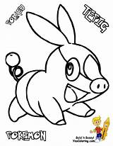 Pokemon Coloring Pages Tepig Yescoloring Sharp Victini sketch template