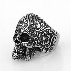 fashion cheap hot sale skull for men unique trendy retro With cheap skull wedding rings