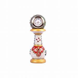 Handcrafted, Desk, Watch, With, Stand, Decorative, Marble, Clock, For, Room, Decor