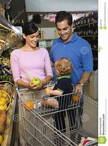 Family Grocery Shopping. Royalty Free Stock Image - Image ...