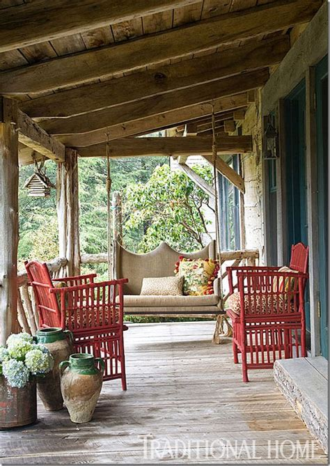 log cabin porch  traditional home porches pinterest log cabin homes cabin  logs