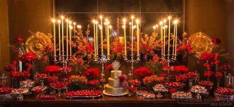 Casamento vermelho & dourado Amarelo Ouro