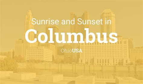 sunrise  sunset times  columbus march