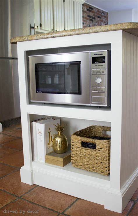 Our Remodeled Kitchen Island With Builtin Microwave Shelf