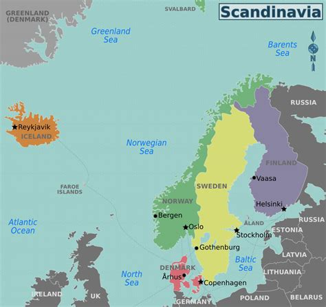maps  baltic  scandinavia detailed political